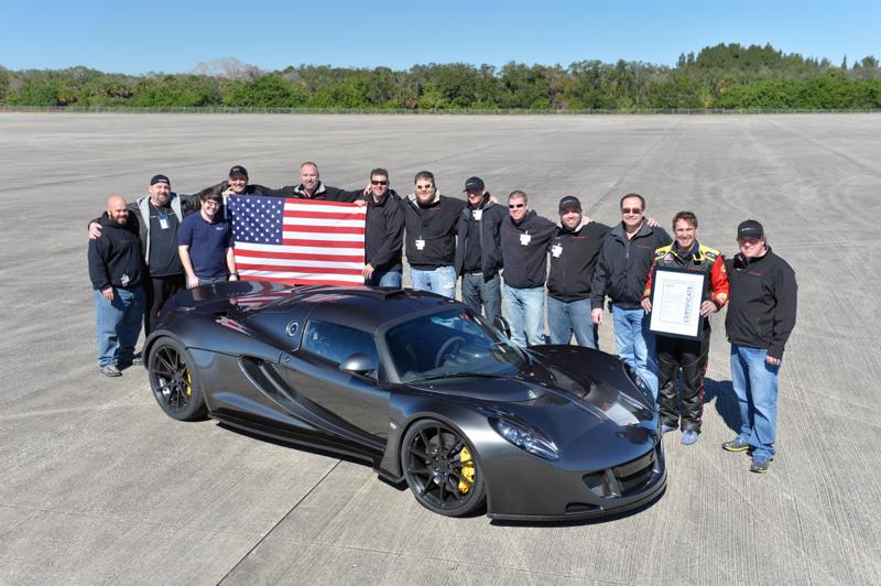 Ora è ufficiale: la Hennessey Venom GT è l'auto di serie più veloce del mondo.