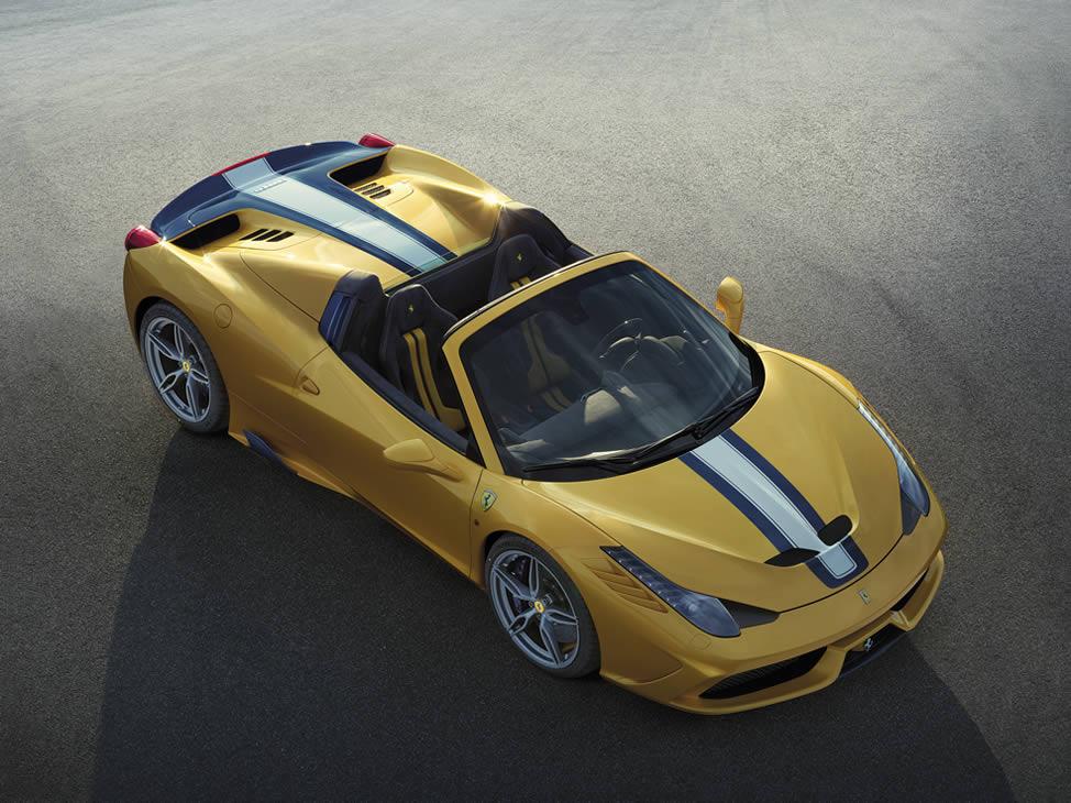 La Ferrari 458 Speciale si toglie il cappello e diventa spider
